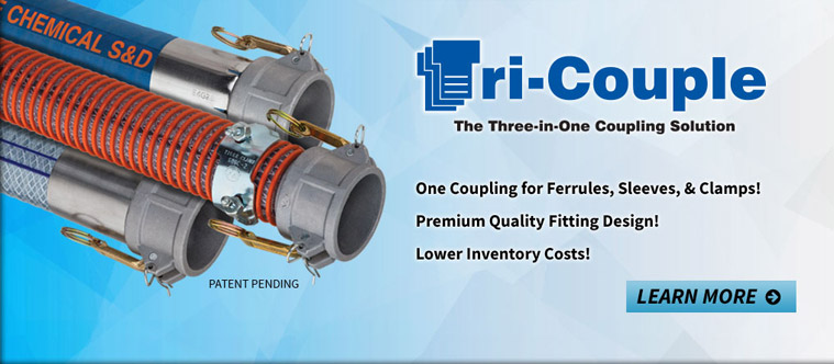 Tri-Couple - The Three-In-One Coupling Solution - One Coupling for Ferrules, Sleeves, and Clamps!