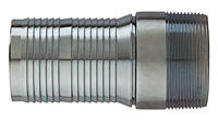 Kuri-Krimp™ Interlocking Hose Nipple (Zinc Plated Steel), NPT Threads