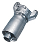 Zinc Plated Two Lug Hose Coupling with Crimp Ferrule