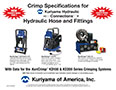 Crimp Specifications for Kuriyama Hydraulic Connections Products