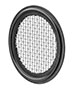 Primary Image - Buna-N Tri-Clamp 10 Mesh Screen Gasket Black
