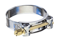 Heavy Duty T-Bolt Clamps 304 Stainless Steel Band with Carbon Steel Bolt and Nut