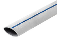 Mill Discharge Hose - Double Jacket with Blue Stripe