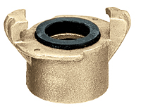Brass Two Lug Female Threaded Coupling (NPT Threads)