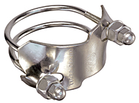 Stainless Steel 304 Spiral Double Bolt Clamp (For Counterclockwise Spiral Hoses) Designed for Tigerflex™ PVC Suction Hoses