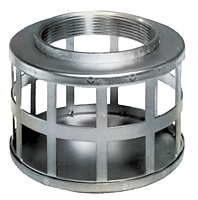 Square Hole Zinc Plated Steel Strainer (NPSM Threads)