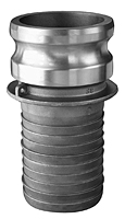 Item Image -  Aluminum Part E Male Adapter x Hose Shank