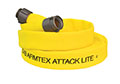 Armtex® Attack Lite™ 25 ft Available Lengths, 1 1/2 in. Size, and NST Coupling Type Yellow Lightweight Lined Fire Hose