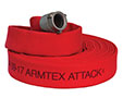 Armtex® Attack™ 25 ft Available Lengths, 1 1/2 in. Size, and NST Coupling Type Red Lightweight Lined Fire Hose