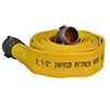 Armtex® Jafrib® 25 ft Available Lengths, 1 in. Size, and 1 3/16 in. Bowl Size Dark Yellow Layflat Uncoupled Fire Hose