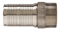 Kuri-Krimp™ Interlocking Hose Nipple (316 Stainless), NPT Threads