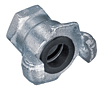 Zinc Plated Two Lug Female Threaded Coupling (NPT Threads)