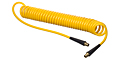 Series HSC2841 Yellow Polyurethane Self-Store Tubing & Reinforced Hose