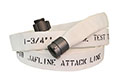 Jafline® 25 ft Available Lengths, 1 1/2 in. Size, and NST Coupling Type White Double-Jacket Fire Hose with Polyurethane Lining